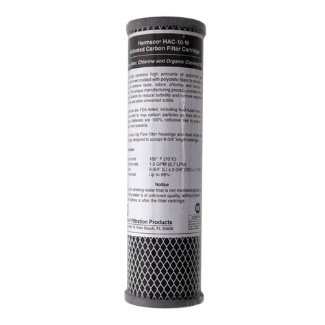 Hausing Filter Nanotec 10 Carbon Active hac 10 w harmsco activated carbon water filter cartridge