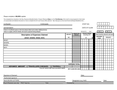 expense claim form template best photos of expenses claim form template excel