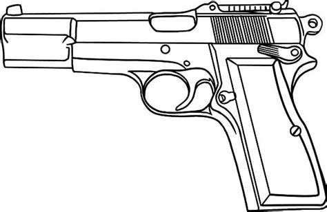 gun coloring pages the hand gun machine gun etc