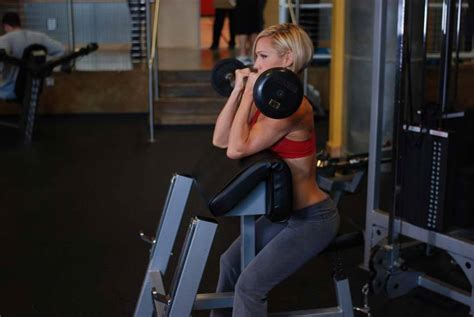 preacher bench concentration curls preacher hammer dumbbell curl exercise guide and video