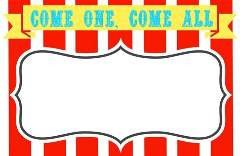 sign template free printable carnival signs template clipart best