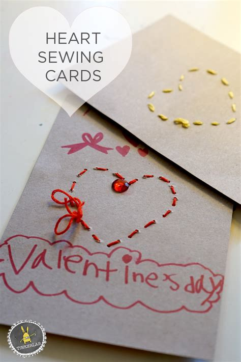 day cards for preschoolers to make sewing cards for preschoolers tinkerlab
