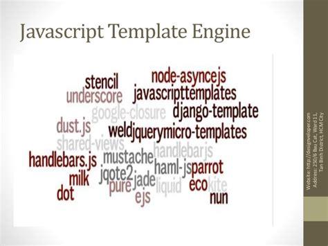 javascript template engine javascript template engine