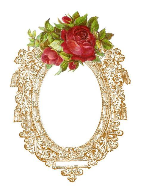 printable vintage flowers antique images free digital frame graphic vintage