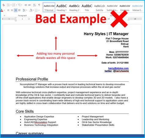 cv details exle 7 cv formatting tips that will get you more interviews