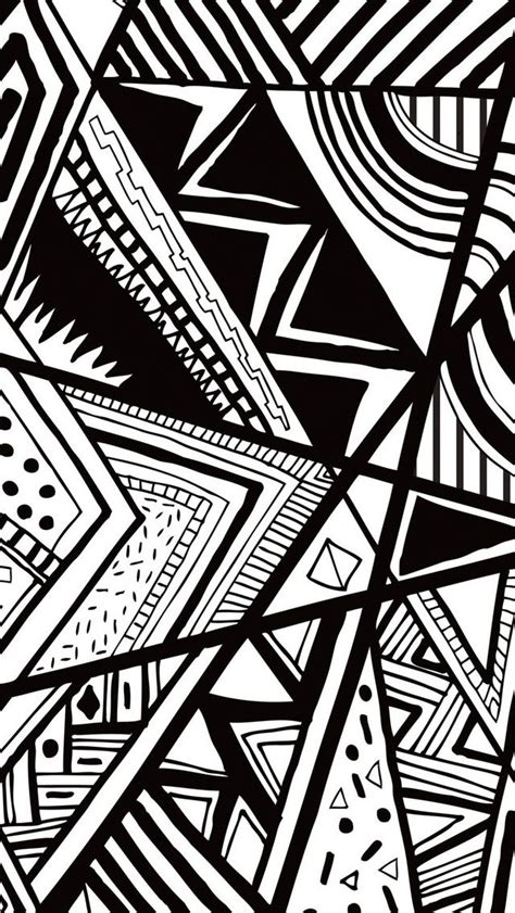black  white doodle iphone  wallpaper httpwww