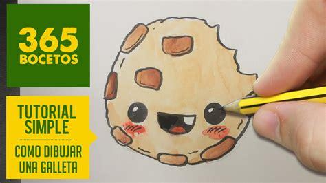 imágenes kawaii fáciles de hacer como dibujar una galleta kawaii paso a paso dibujos