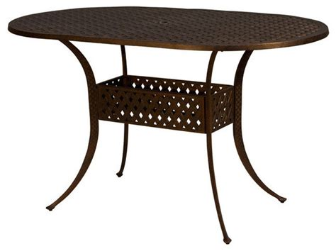 Oval Bistro Table Kokomo Oval Bar Height Table 72 Quot Traditional Outdoor Pub And Bistro Tables By Patio Retreat