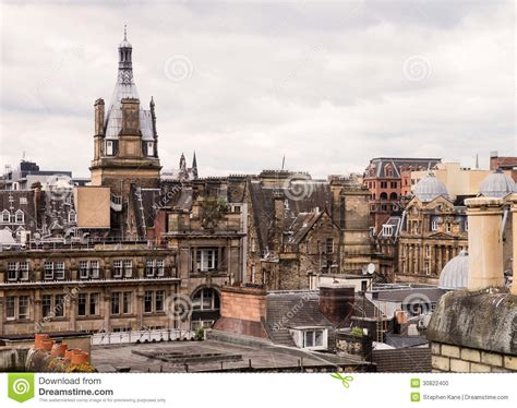 sectioned scotland glasgow rooftops stock photo image 30822400