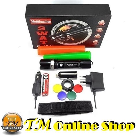 Senter Swat Zoom 99000 Watt jual senter swat 99000 watt 99000w 99000watt baterai ultrafire 18650 charger colok