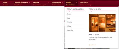 drupal themes with megamenu sneak peak on responsive drupal theme tb travel themebrain