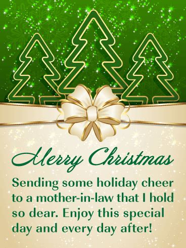 holiday cheer merry christmas card  mother  law birthday greeting cards  davia