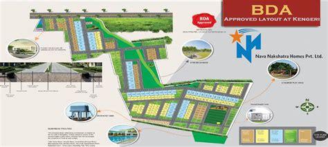 layout plan bda 2400 sq ft plot for sale in nava nakshatra bda layout