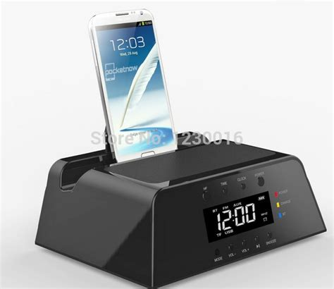 android alarm clock dock 2015 best gifts alarm clock station bluetooth speaker fm radio remote for ios