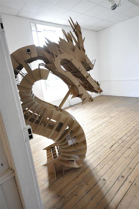 cardboard dragon on behance