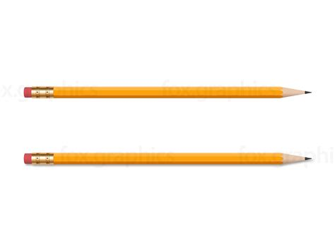 pencil photo wooden yellow pencil png fox graphics
