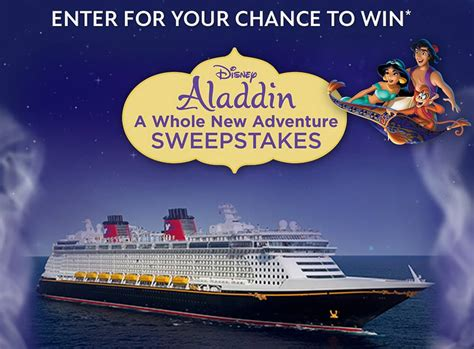 New Sweepstakes - enter to win the aladdin a whole new adventure sweepstakes
