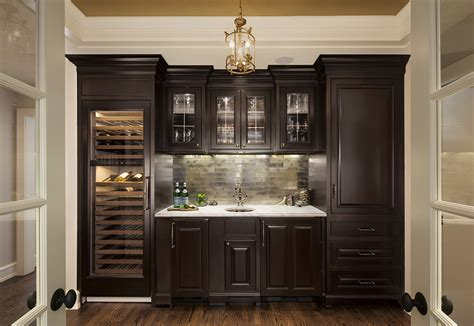 Pantry With Glass Doors by The Perfect Wet Bar Bartelt The Remodeling Resource