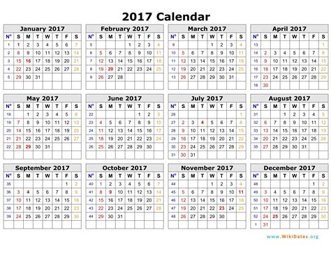 2017 Calendar Template Monthly Calendar 2017 Free Photo Calendar Template 2017