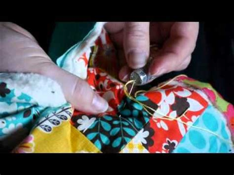 hand quilting tutorial youtube hand quilting with perle cotton tutorial sewhappygeek