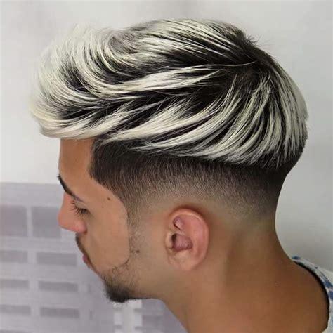 platinum with hombre estilos de cabello rapado a los lados