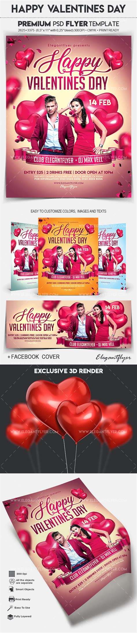 valentines day card template psd flyer for valentines day by elegantflyer