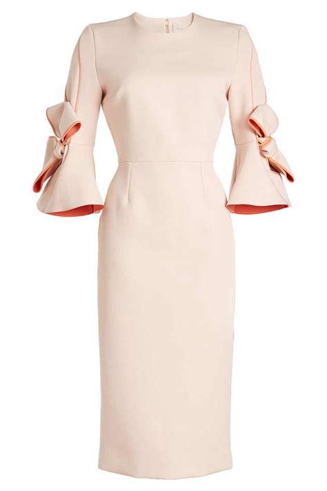 Bow Sleeve Dress roksanda bow sleeves with sheath pink dress we select