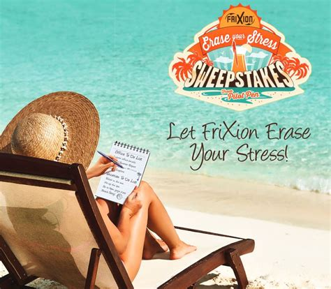 Sweepstakes Postmarked - erase your stress with frixion blog sundance