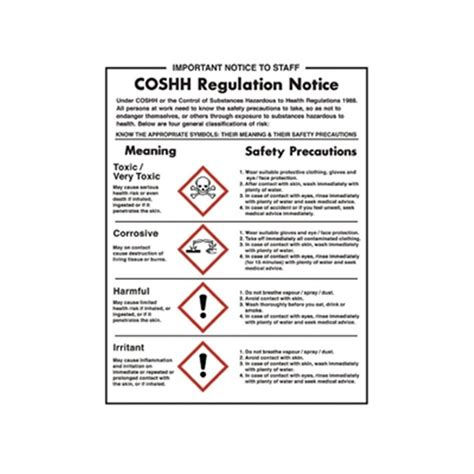 Nursery Hand by Coshh Regulations Notice Poster Newline Ltd