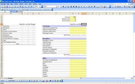 wedding spreadsheet templates 15 useful wedding spreadsheets excel spreadsheet