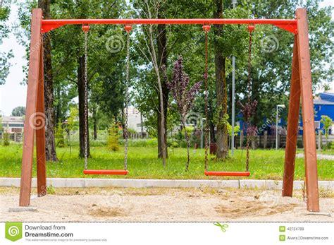 used swing royalty free stock images swing playground image 42724789