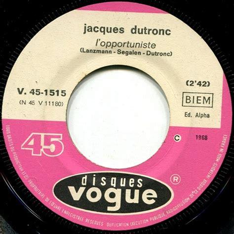 jacques dutronc vinyl dutronc jacques l opportuniste records lps vinyl and cds