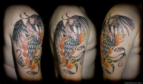 tattoo phoenix flames flames and colorful phoenix tattoo designs 187 tattoo ideas