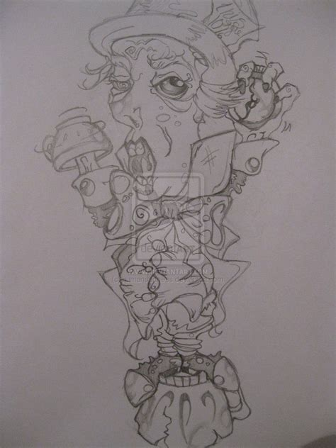 mad hatter tattoo designs mad hatter designs mad hatter drawings