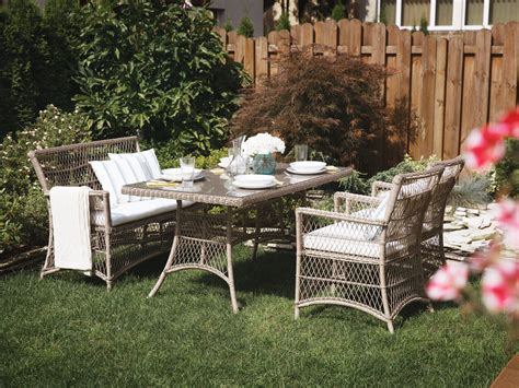 patio dining set with bench wicker patio dining set with bench and chairs barletta
