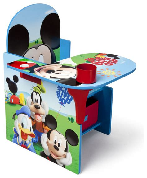 bureau enfant mickey children blue mickey mouse storage bin cup holder