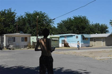 heat wave leads to misery at modesto mobile home park by