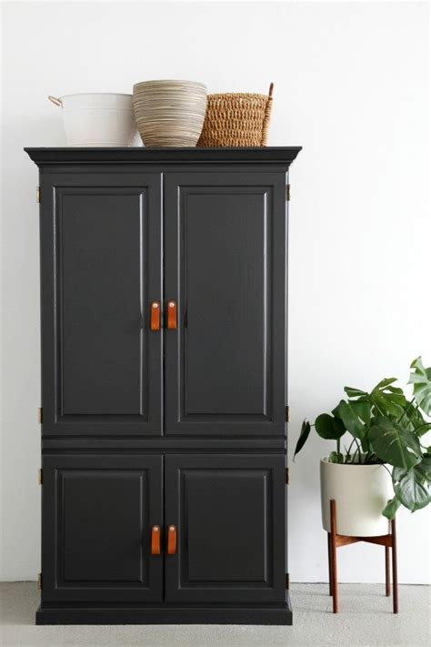 media armoire ikea why you should paint your furniture black popsugar home