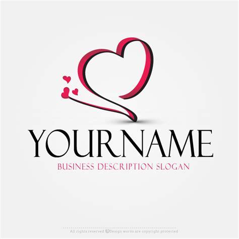 design logo heart online free logo maker heart logo design