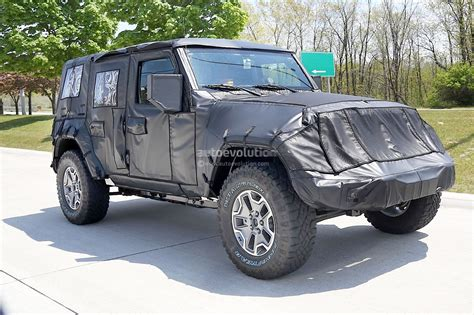 jeep wrangler 2018 jeep wrangler jl spied shows hardware