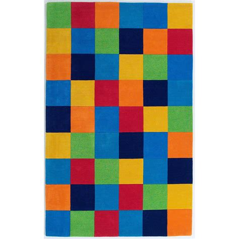 boys color block wool rug sturbridge yankee workshop