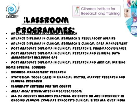 Sasin Mba Requirement by Clinical Research And Seminar Ppt May 2012 Tirupati