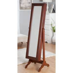 Standing Mirror Armoire Free Standing Swivel Jewelry Armoire Cherry At Hayneedle