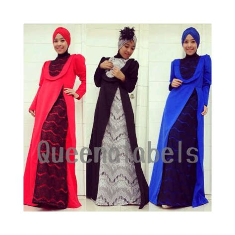 Keke Collection Rp 255 000 q delacy merah baju muslim gamis modern