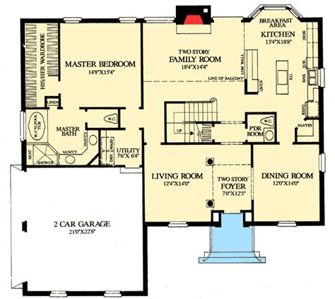 2 story floor plans with master on main floor