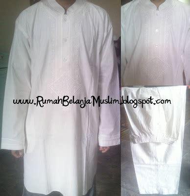Baju Muslim Pakistan Baju Koko Pakistan Putih Katun Al Luthfi 1
