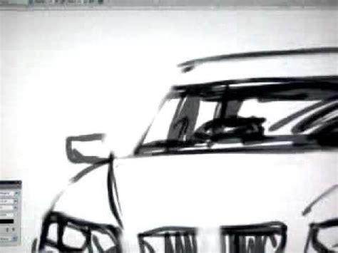menggambar sketsa mobil youtube