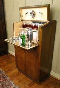Pop Up Bar Cabinet Antique Deco Bar Liquor Martini Cabinet Fitted Walnut Pop Open Key Ebay
