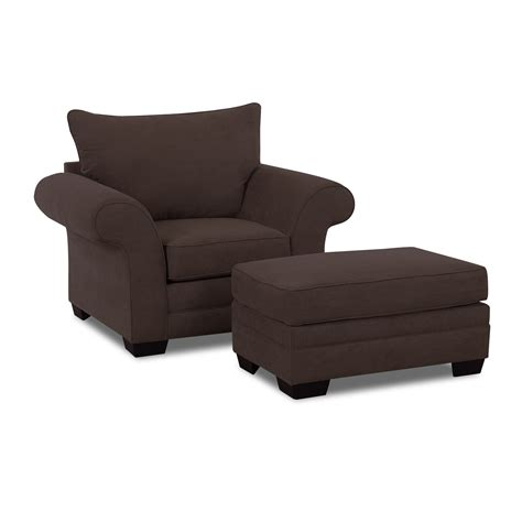Accent Chair And Ottoman Set Klaussner Chair And Ottoman Set Atg Stores