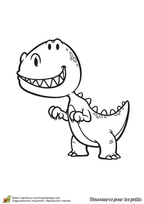 Dessin pour enfant, coloriage d?un petit dinosaure T Rex